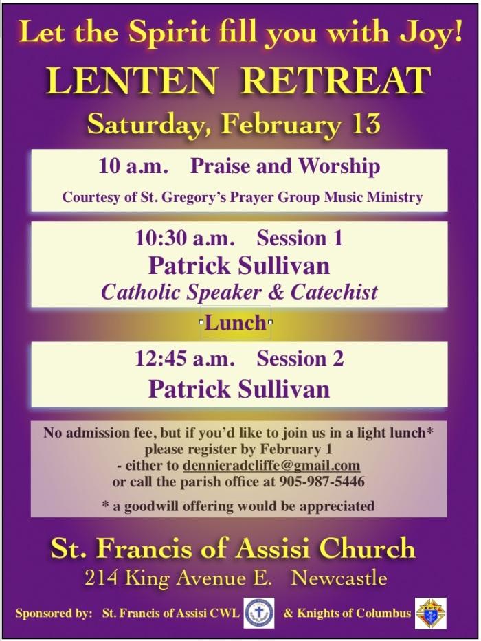 Lent Retreat St. Francis